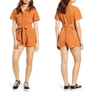 Urban Outfitter BDG stevie canvas pumpkin romper